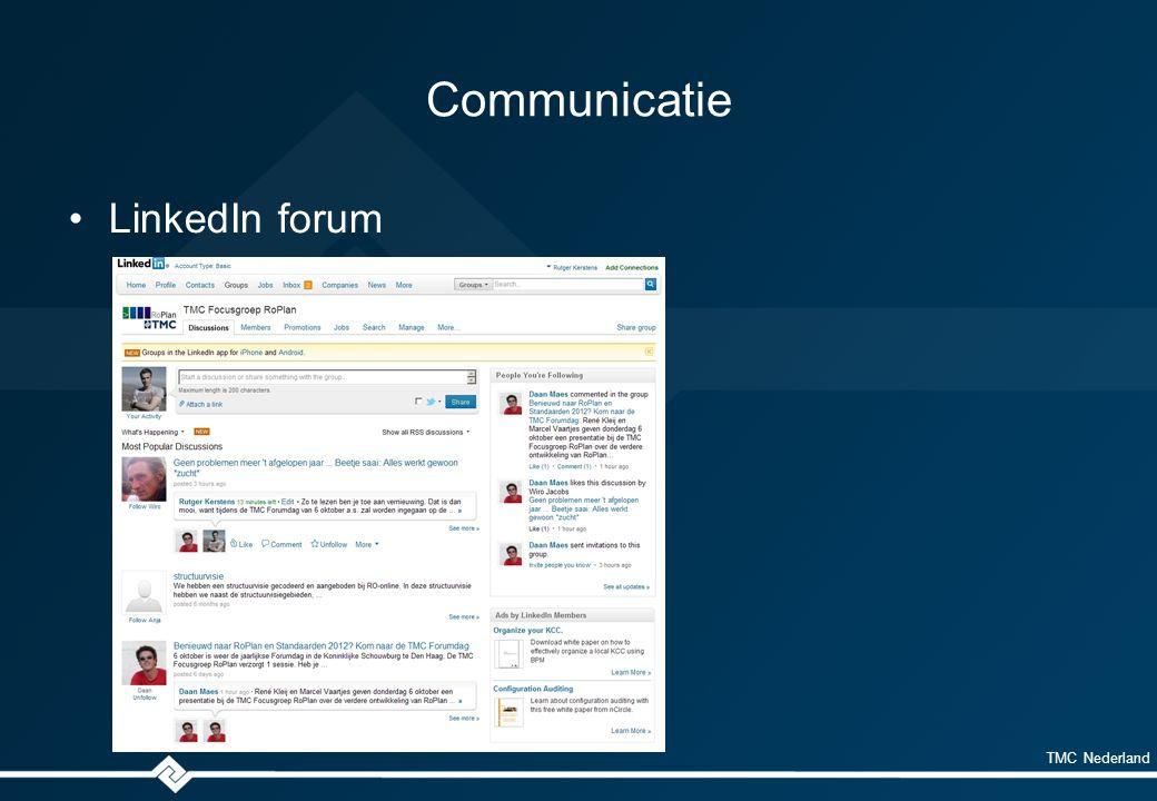 TMC Nederland Communicatie TMC Forum downloads