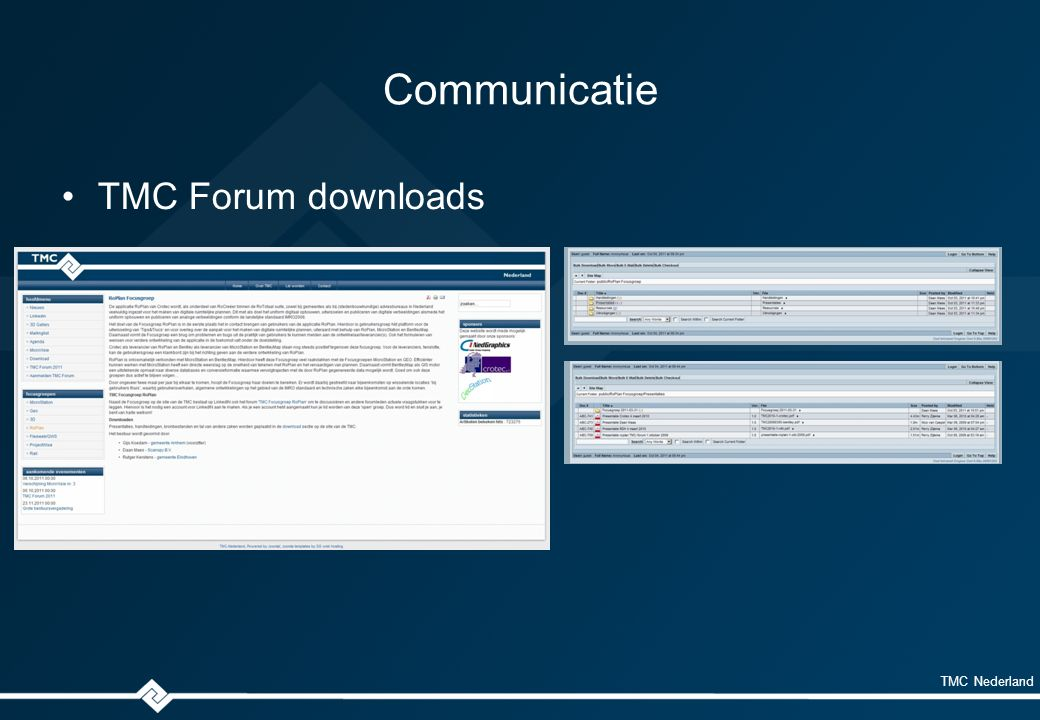 TMC Nederland Communicatie TMC Forum downloads