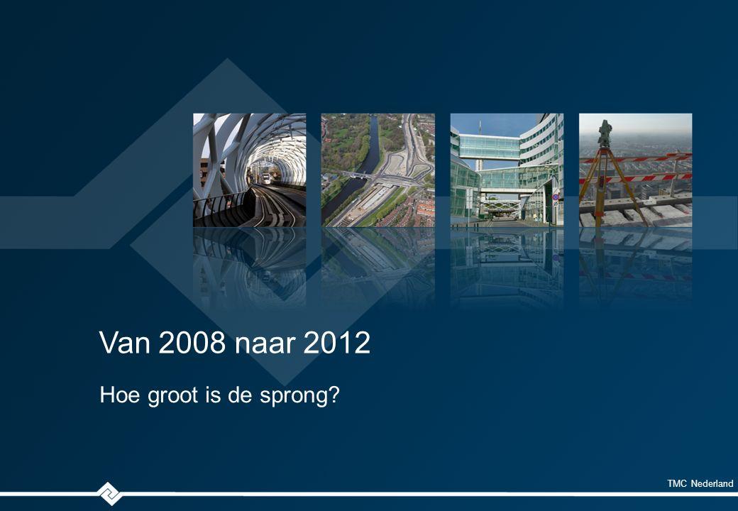 TMC Nederland Van 2008 naar 2012 Hoe groot is de sprong