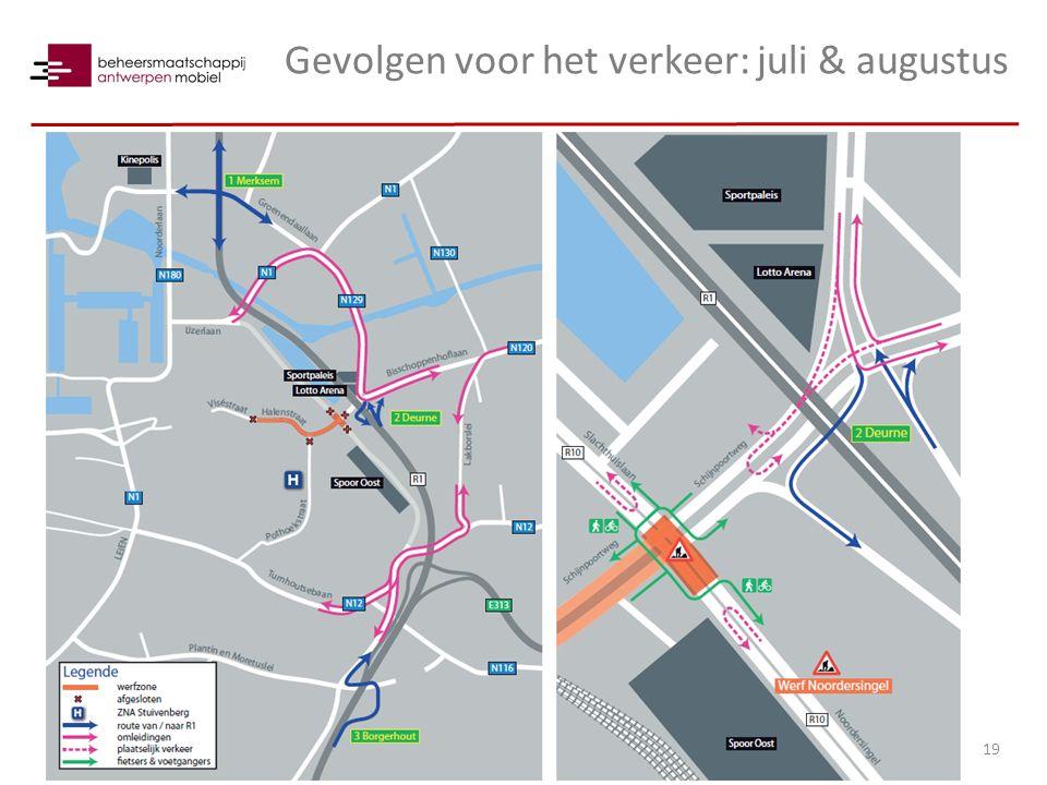 Gevolgen voor het verkeer: juli & augustus 19