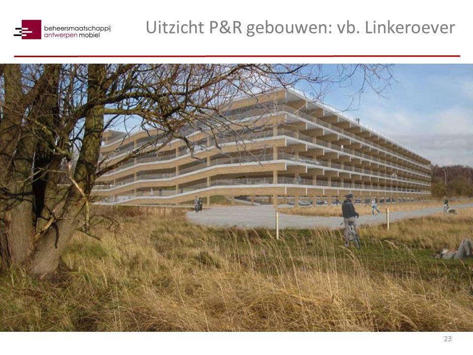Uitzicht P&R gebouwen: vb. Linkeroever 23