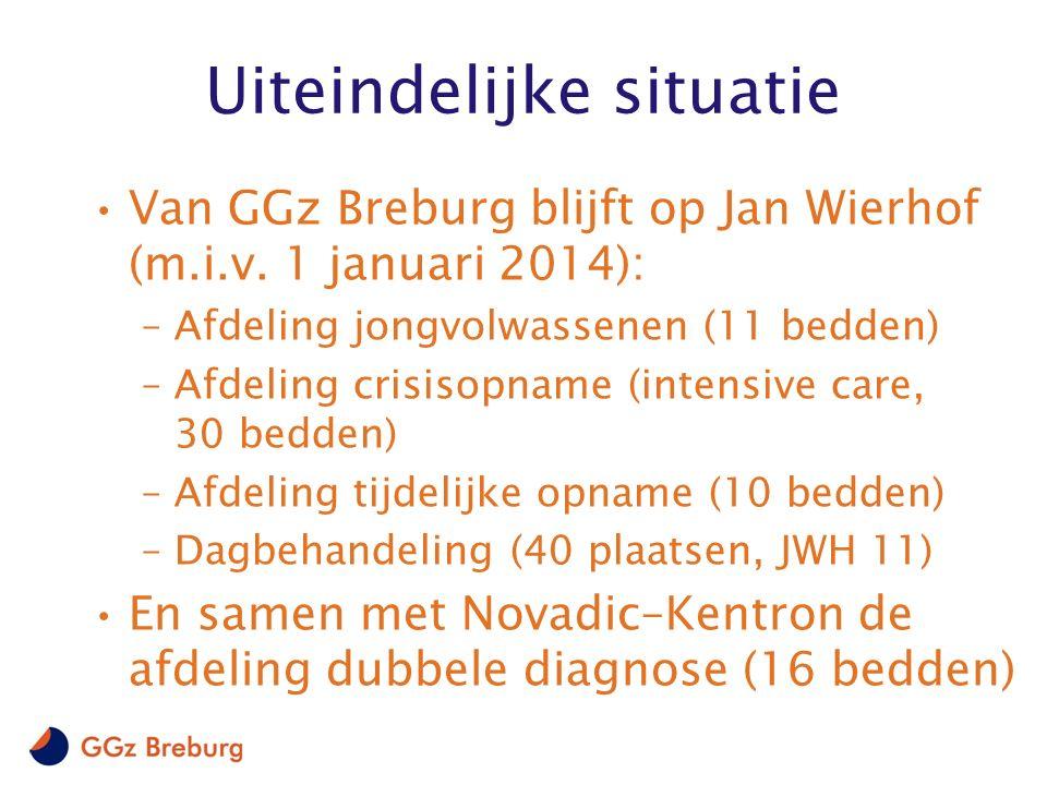 Uiteindelijke situatie Van GGz Breburg blijft op Jan Wierhof (m.i.v.
