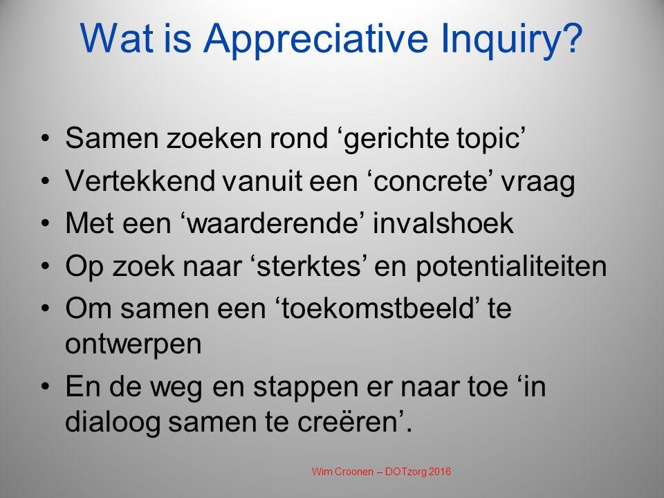 Wat is Appreciative Inquiry.