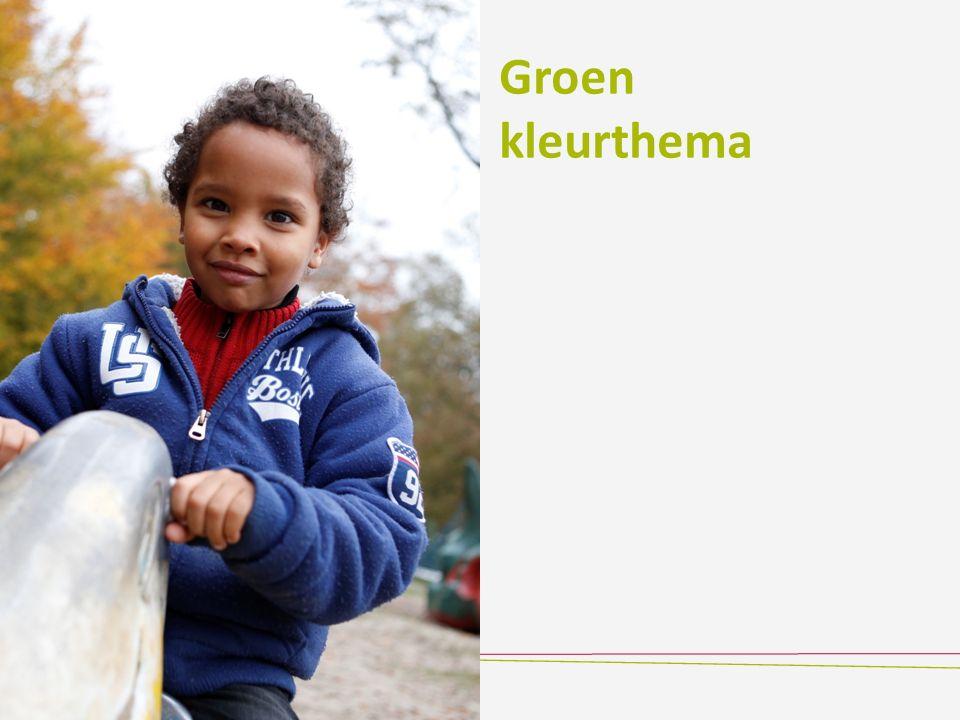 Groen kleurthema
