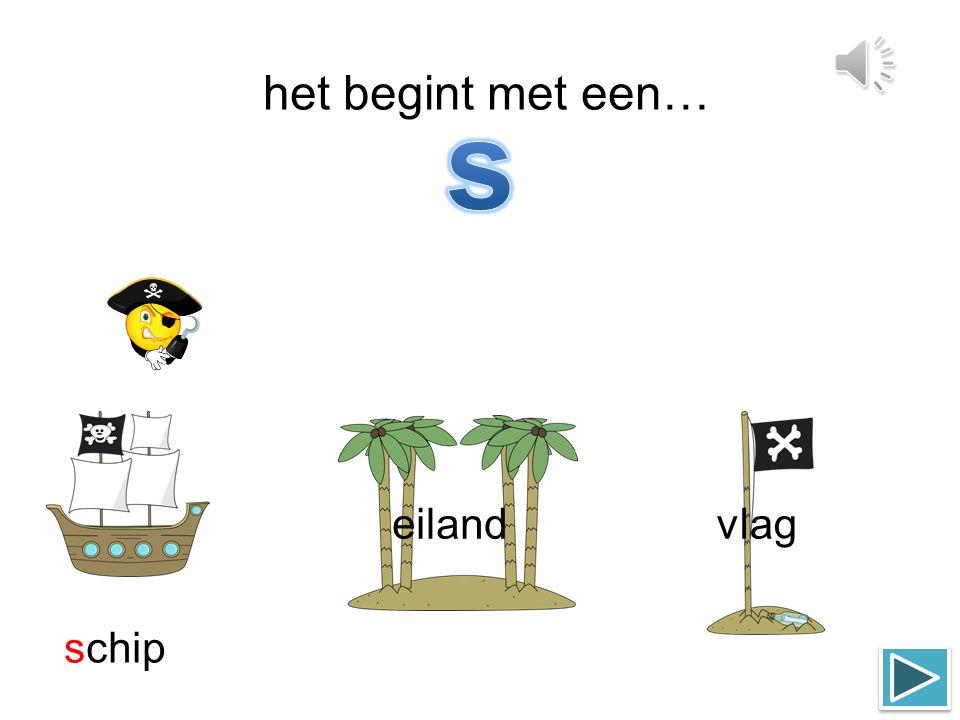 het begint met een… eiland schipvlag