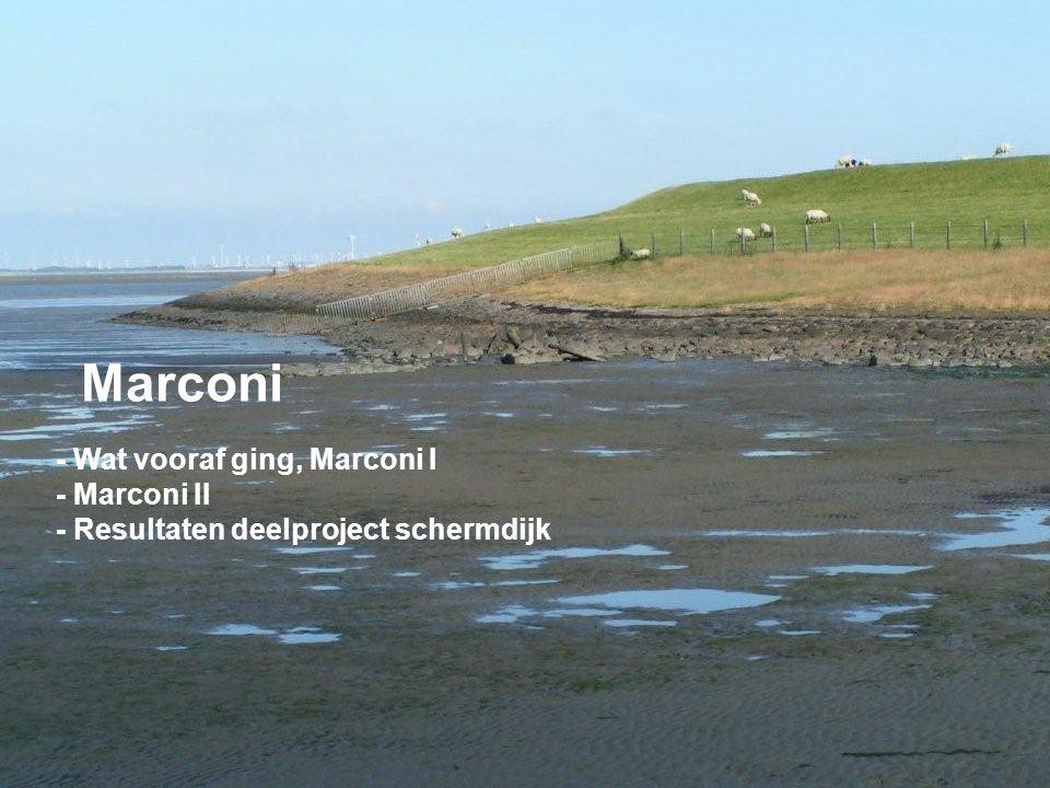 Marconi - Wat vooraf ging, Marconi I - Marconi II - Resultaten deelproject schermdijk