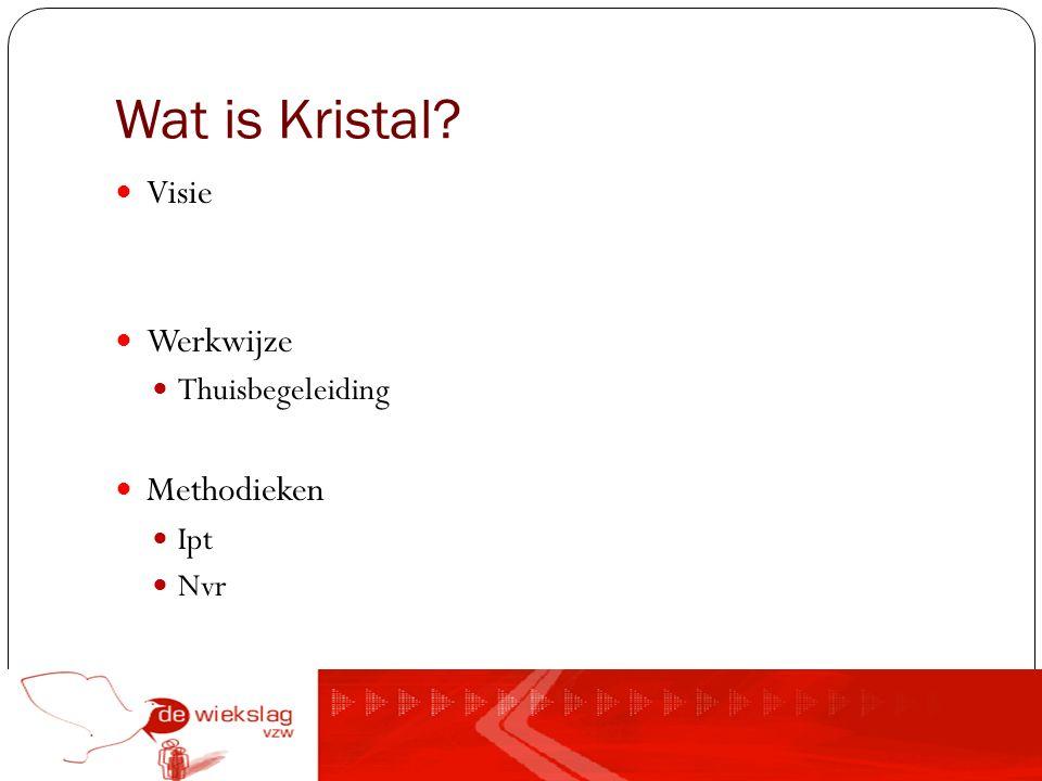 Wat is Kristal? Visie Werkwijze Thuisbegeleiding Methodieken Ipt Nvr