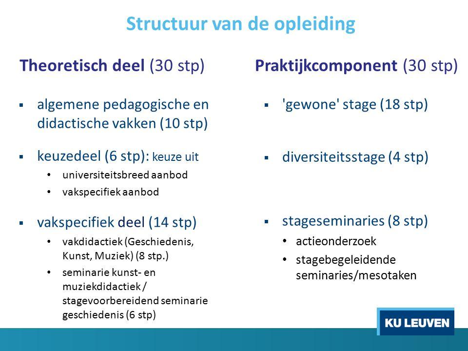Theoretisch deel  ALGEMENE PEDAGOGISCHE EN DIDACTISCHE VAKKEN Leren en onderwijzen (inclusief praktijkinitiatie) (5+2 stp) Onderwijs, opvoeding en samenleving (3 stp)