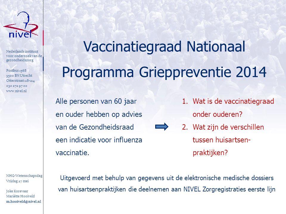 Nederlands instituut voor onderzoek van de gezondheidszorg Postbus 1568 3500 BN Utrecht Otterstraat 118-124 030 272 97 00 www.nivel.nl NHG-Wetenschaps