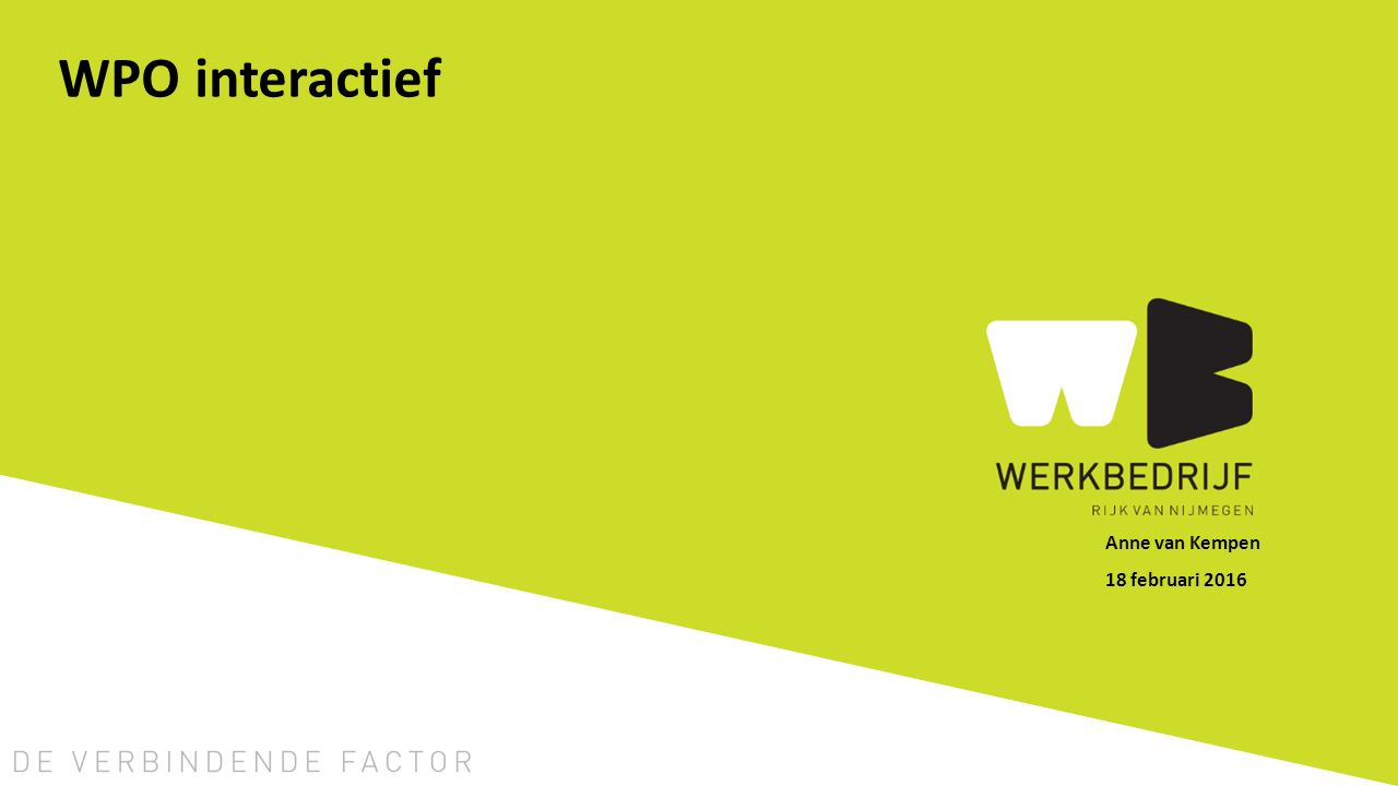 WPO interactief Anne van Kempen 18 februari 2016