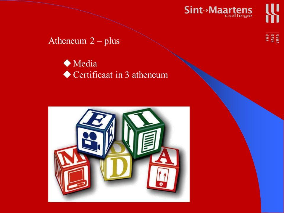 Atheneum 2 – plus  Media  Certificaat in 3 atheneum