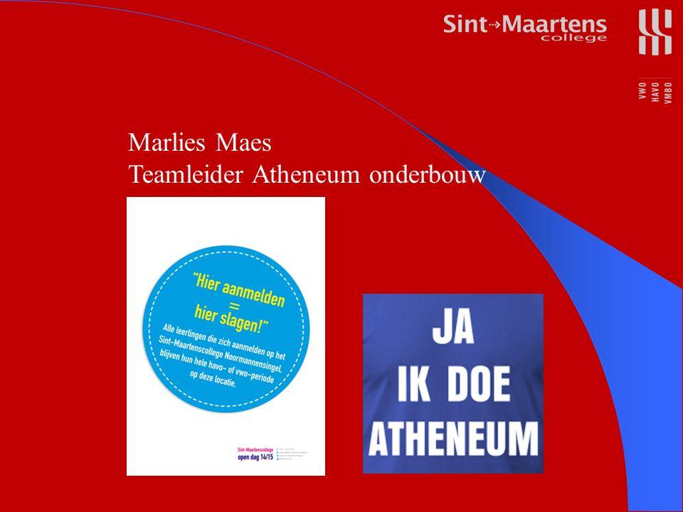 Marlies Maes Teamleider Atheneum onderbouw