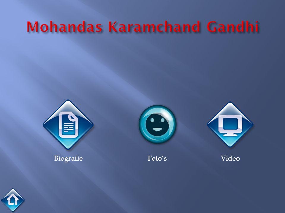 2 oktober 1869 –30 januari 1948 Gandhi was een activist die opkwam voor de rechten van Indiërs in de tijd dat Groot-Brittannië de baas was in het land.