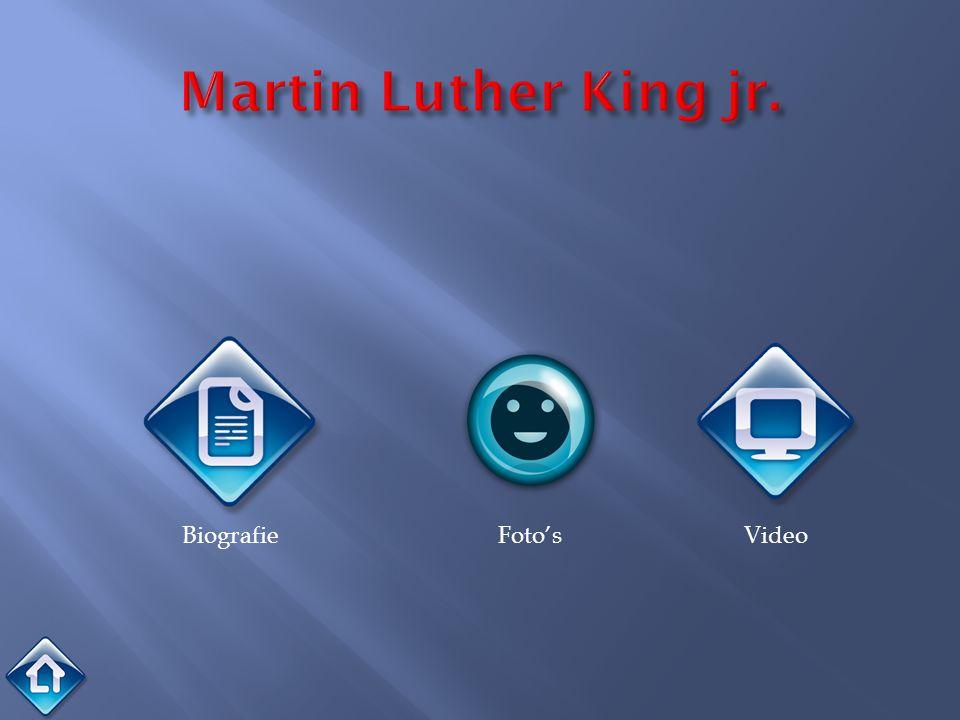 15 januari 1929 - 4 april 1968 King was een activist die opkwam van de rechten van de zwarte bevolking in de Verenigde Staten.