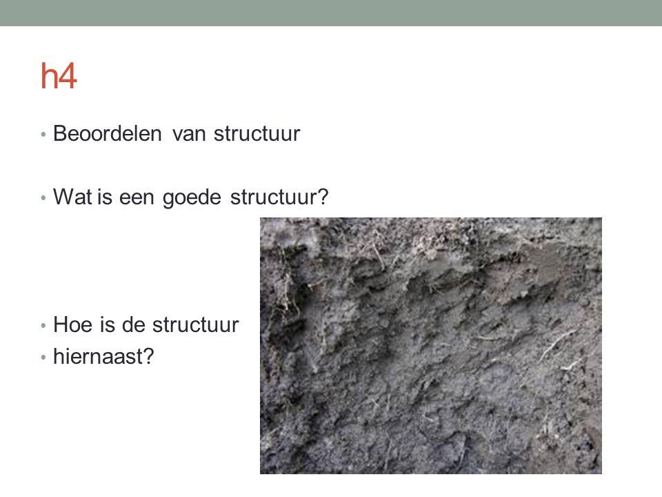 h4 Beoordelen van structuur Wat is een goede structuur? Hoe is de structuur hiernaast?