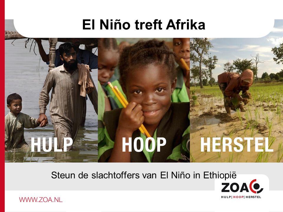 El Niño treft Afrika Steun de slachtoffers van El Niño in Ethiopië