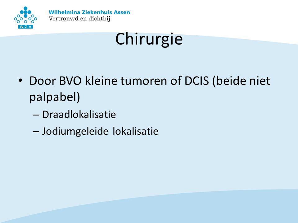 Chirurgie Door BVO kleine tumoren of DCIS (beide niet palpabel) – Draadlokalisatie – Jodiumgeleide lokalisatie