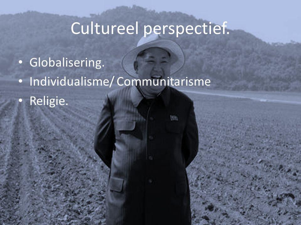 Cultureel perspectief. Globalisering. Individualisme/ Communitarisme Religie.