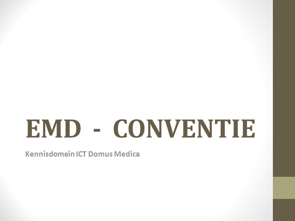 EMD - CONVENTIE Kennisdomein ICT Domus Medica