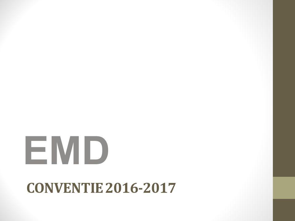 CONVENTIE 2016-2017 EMD