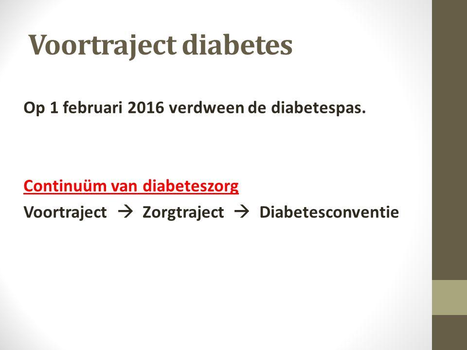 Op 1 februari 2016 verdween de diabetespas.