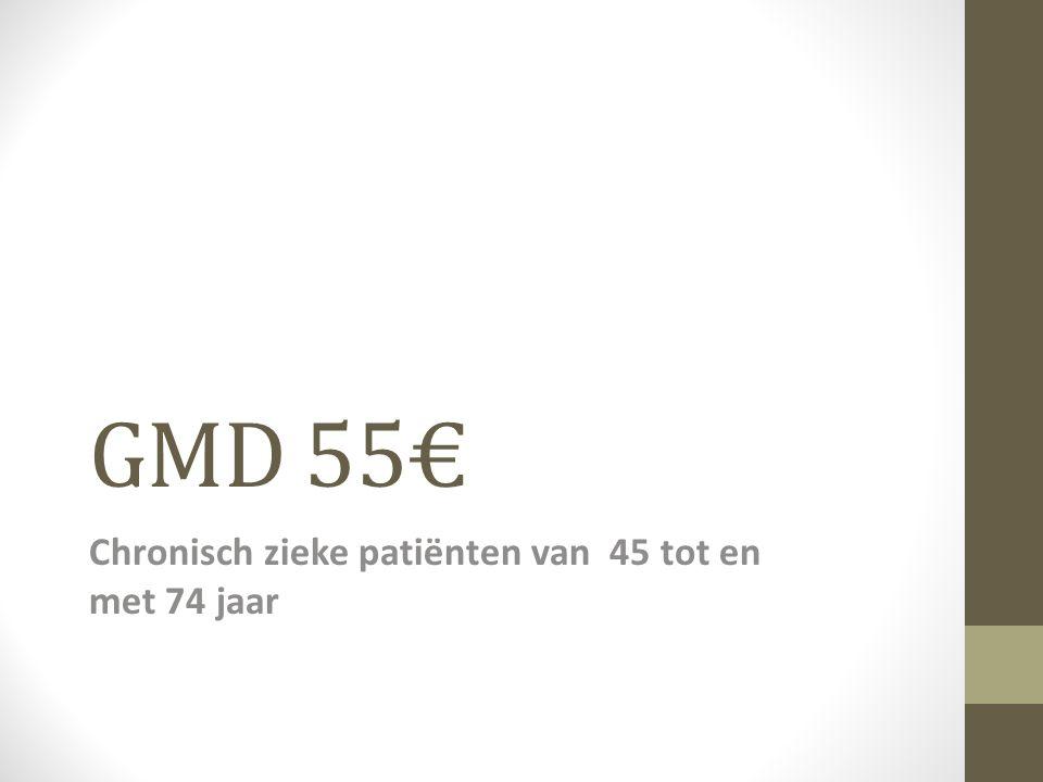 GMD 55€ Chronisch zieke patiënten van 45 tot en met 74 jaar