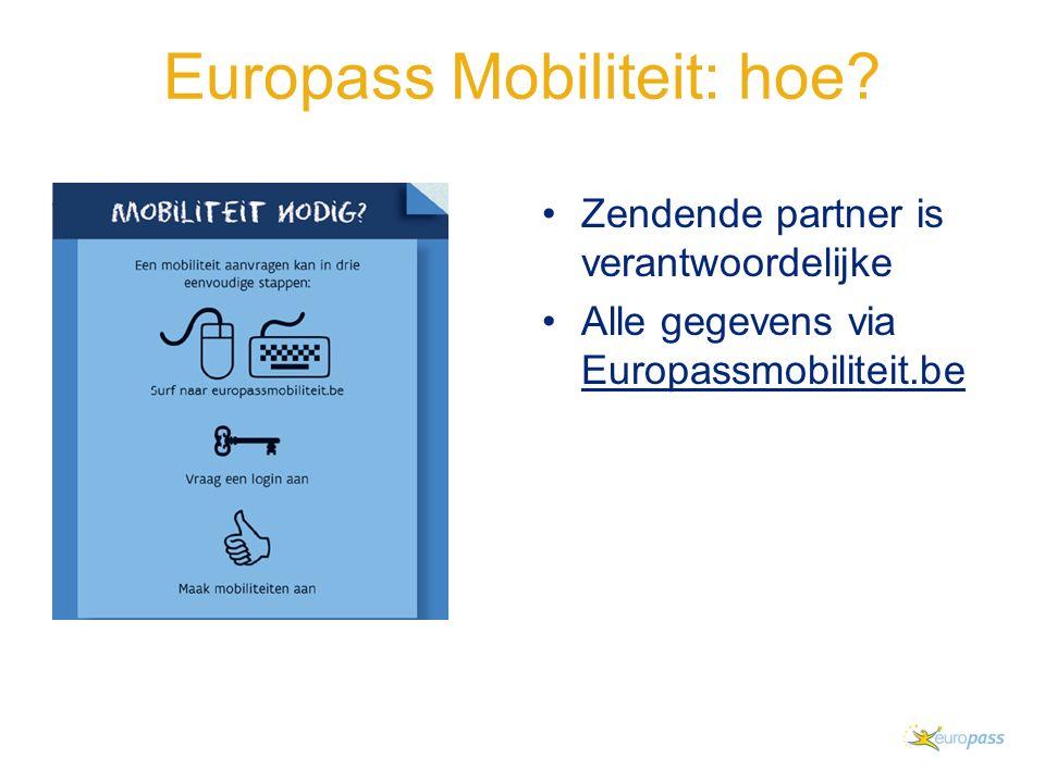 Europass Mobiliteit: hoe.