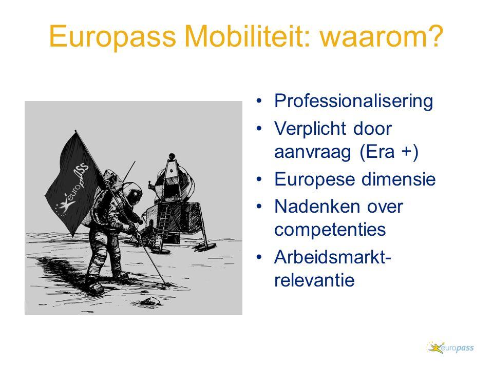 Europass Mobiliteit: waarom.