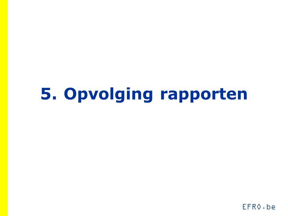 EFRO.be 5.Opvolging rapporten