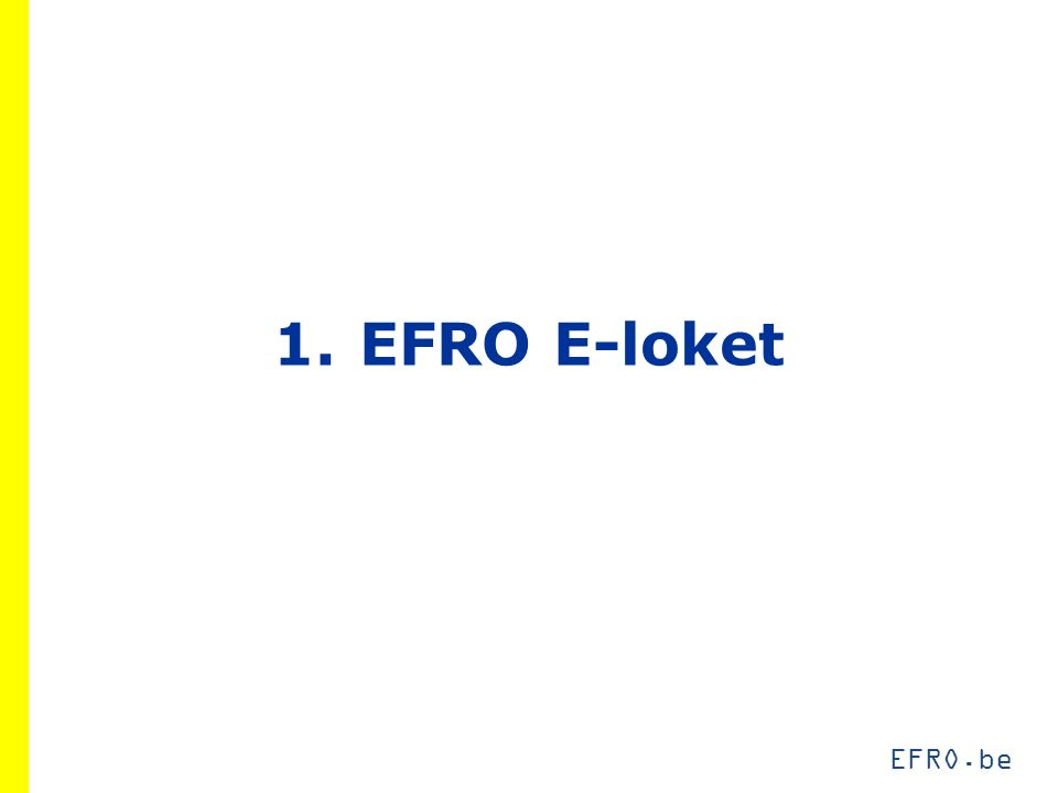 EFRO.be