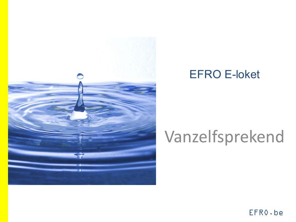 EFRO.be 10%-regel: nieuwe toepassing Doel: subsidiabele uitgaven maximaliseren 10%-regel => geen compensatie meer tussen rubrieken, totaal + 10% 2007-20132014-2020 Goedgekeurd100 Ingediend120 80 Subsidiabel120 80 Aanvaard10011080 Gecertificeerd10011080 EFRO40 32 EFRO-%40%36,36%40%