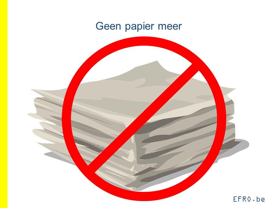 EFRO.be Geen papier meer
