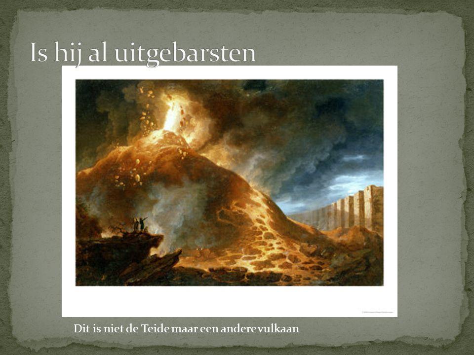 Dit is niet de Teide maar een andere vulkaan