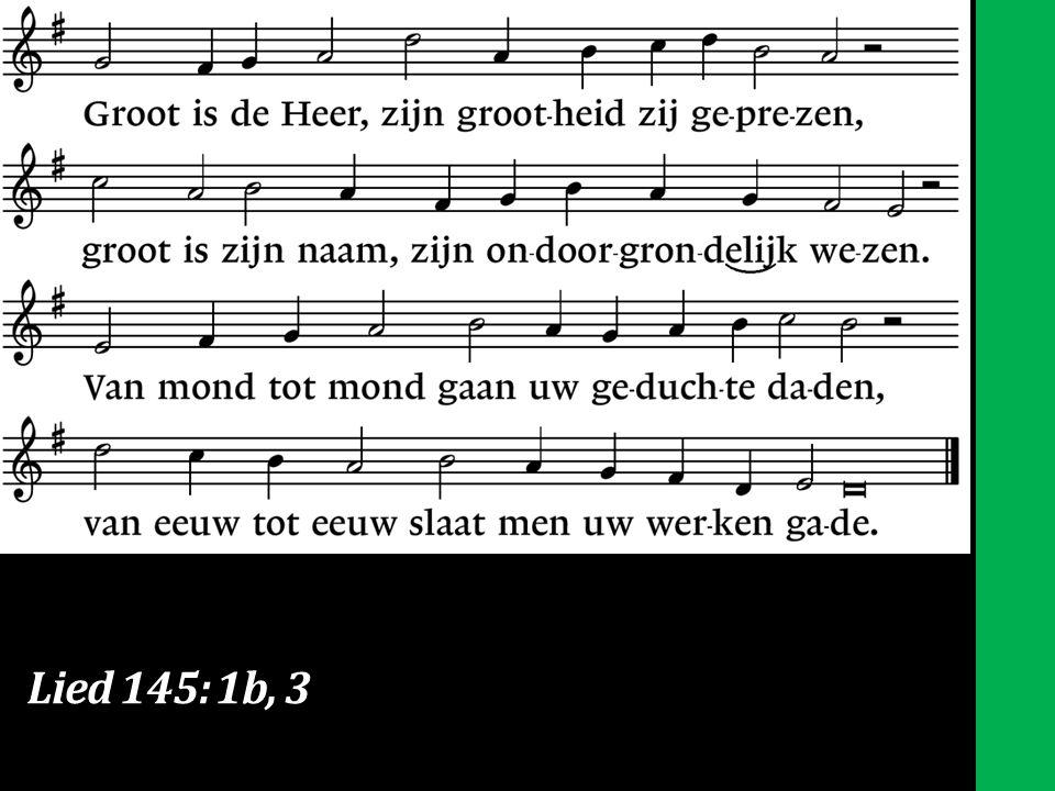 Lied 145: 1b, 3