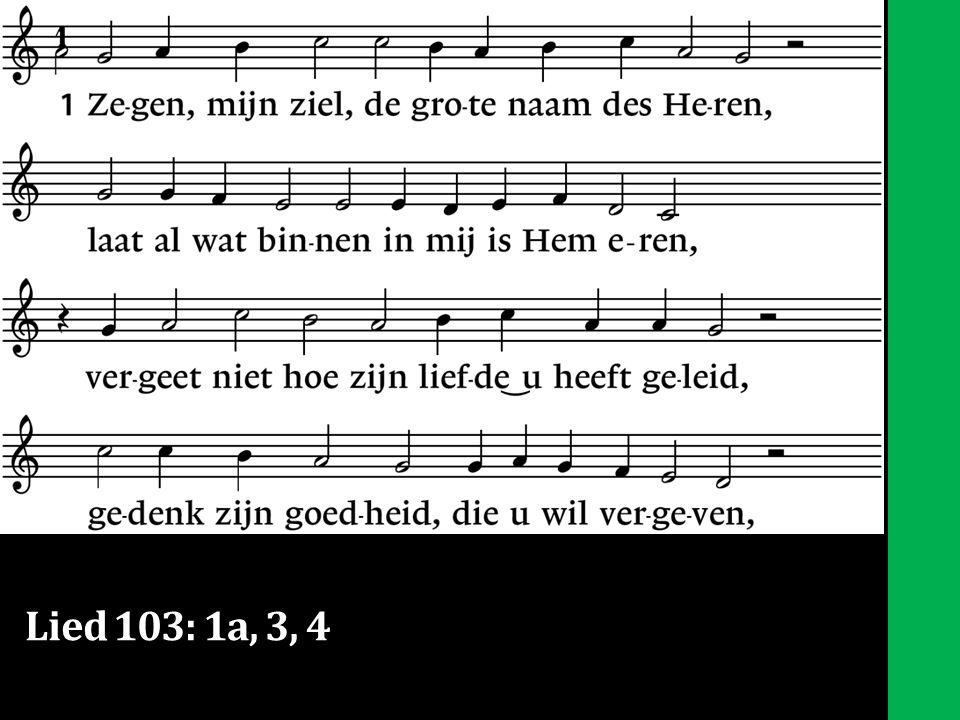 Lied 103: 1a, 3, 4