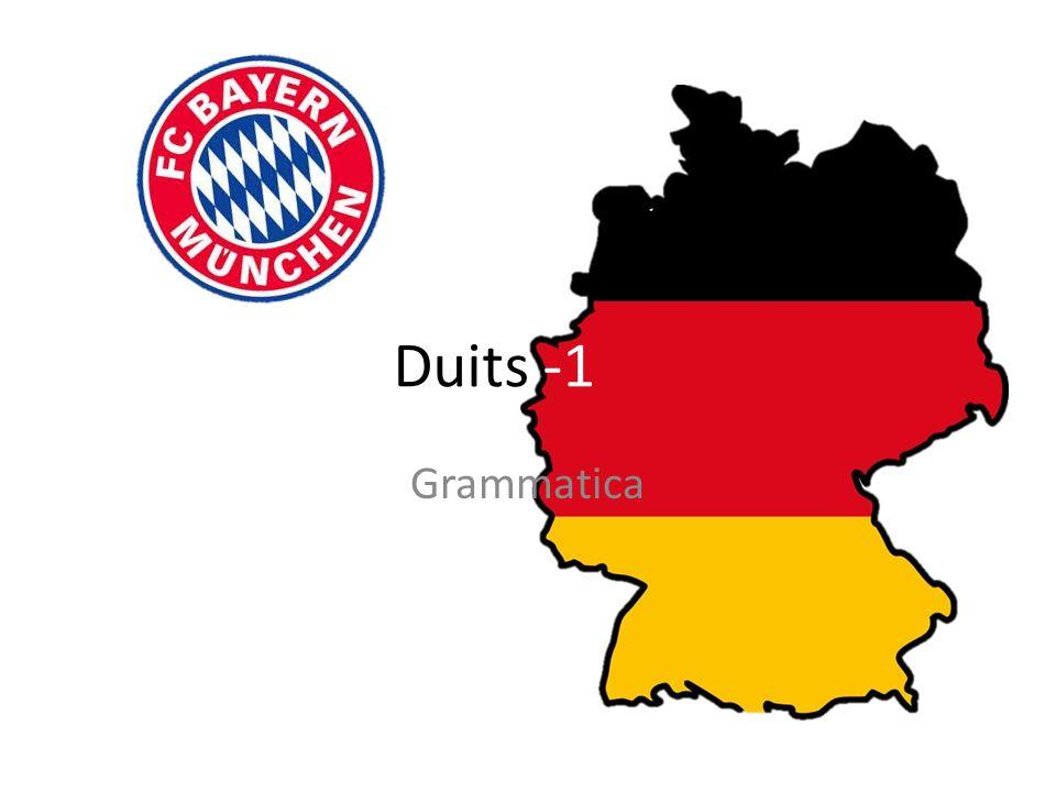 Duits -1 Grammatica