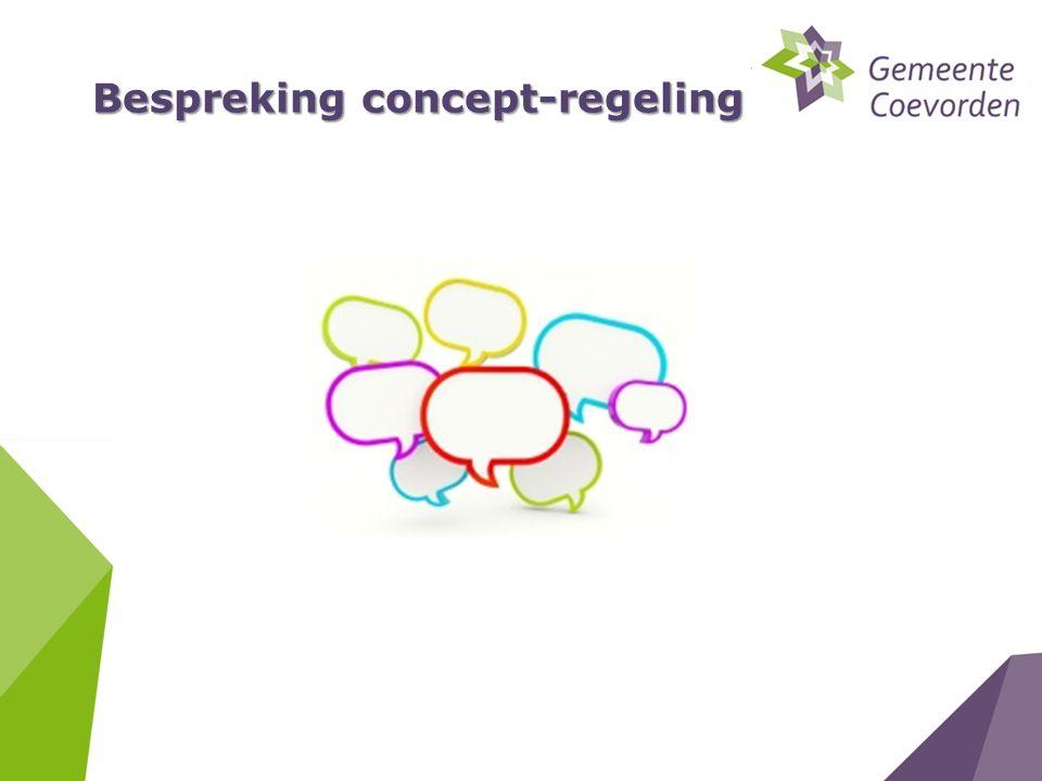 Bespreking concept-regeling