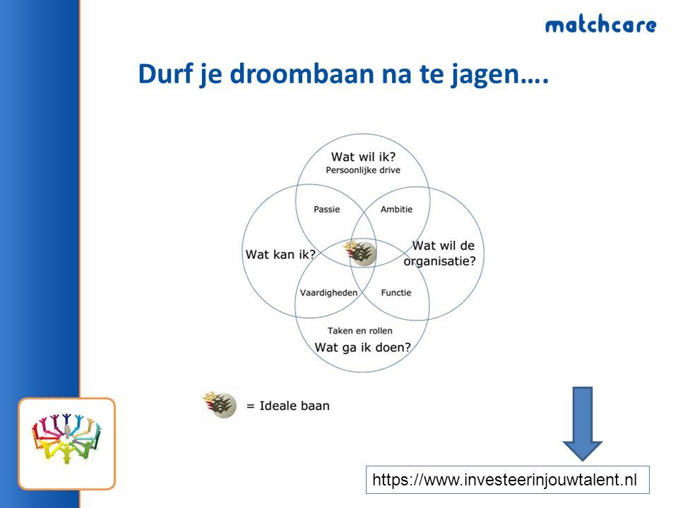 Durf je droombaan na te jagen…. https://www.investeerinjouwtalent.nl