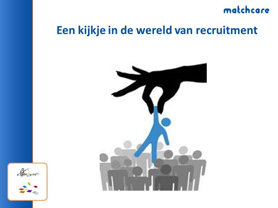 Een kijkje in de wereld van recruitment