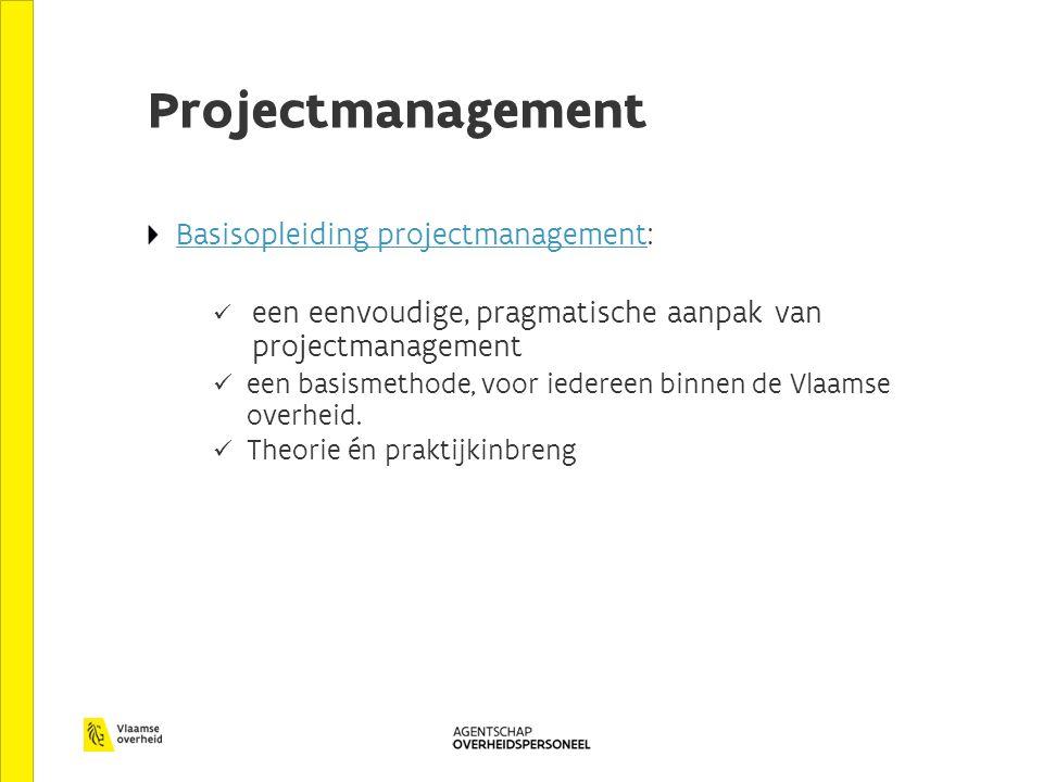Projectmanagement Basisopleiding projectmanagementBasisopleiding projectmanagement: een eenvoudige, pragmatische aanpak van projectmanagement een basi