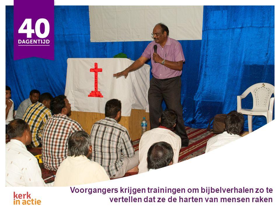 Voorgangers krijgen trainingen om bijbelverhalen zo te vertellen dat ze de harten van mensen raken