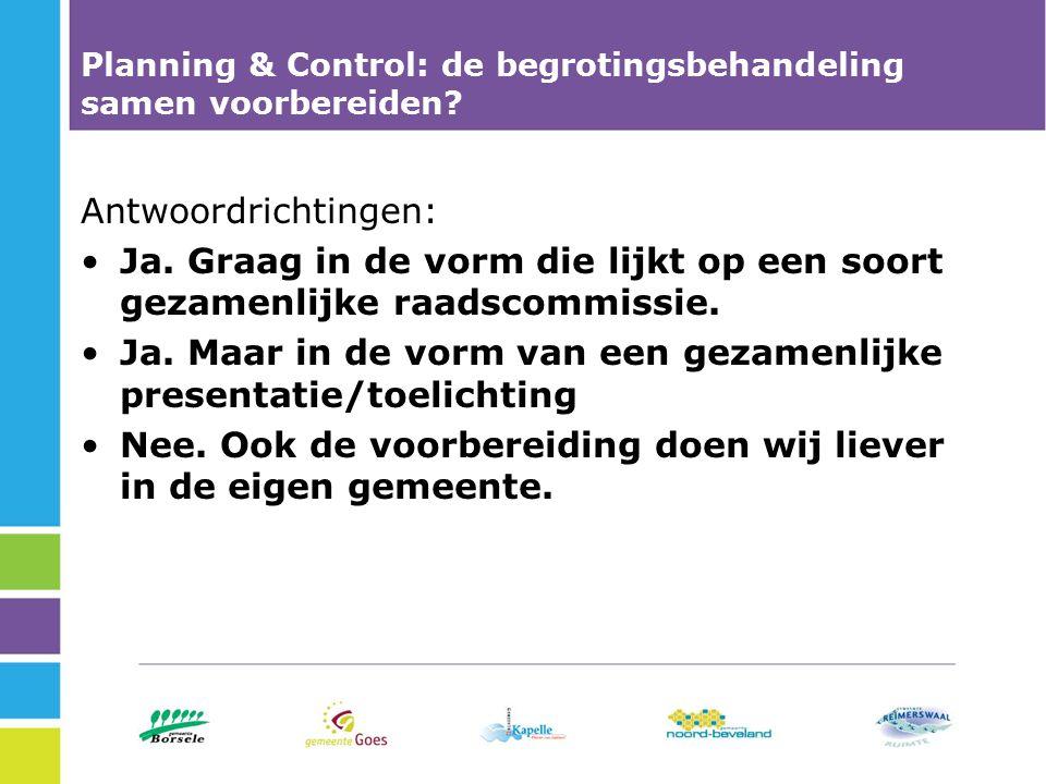 Planning & Control: de begrotingsbehandeling samen voorbereiden.
