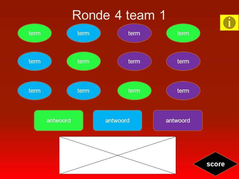 Ronde 4 team 1 term score antwoord