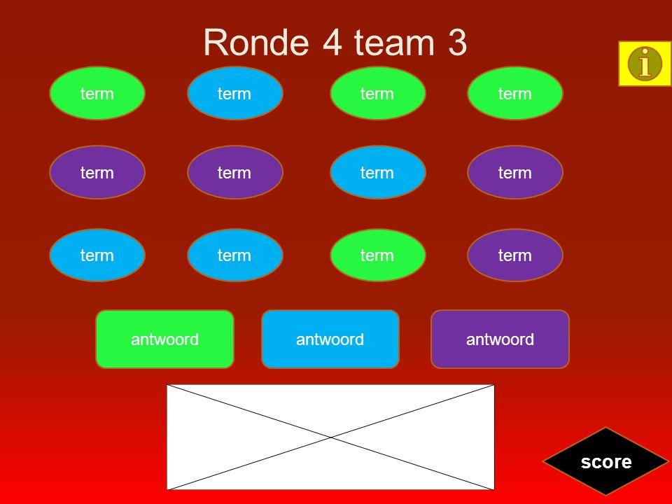 Ronde 4 team 3 term score antwoord