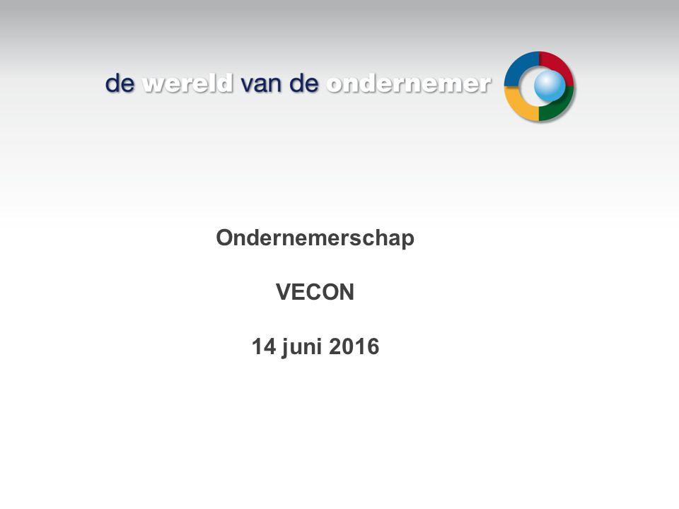 Ondernemerschap VECON 14 juni 2016