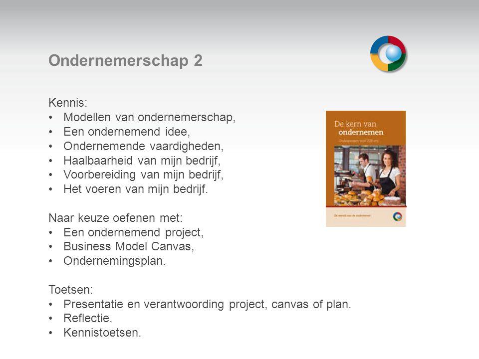 Welkom Ondernemerschap 2 Kennis: Modellen van ondernemerschap, Een ondernemend idee, Ondernemende vaardigheden, Haalbaarheid van mijn bedrijf, Voorbereiding van mijn bedrijf, Het voeren van mijn bedrijf.