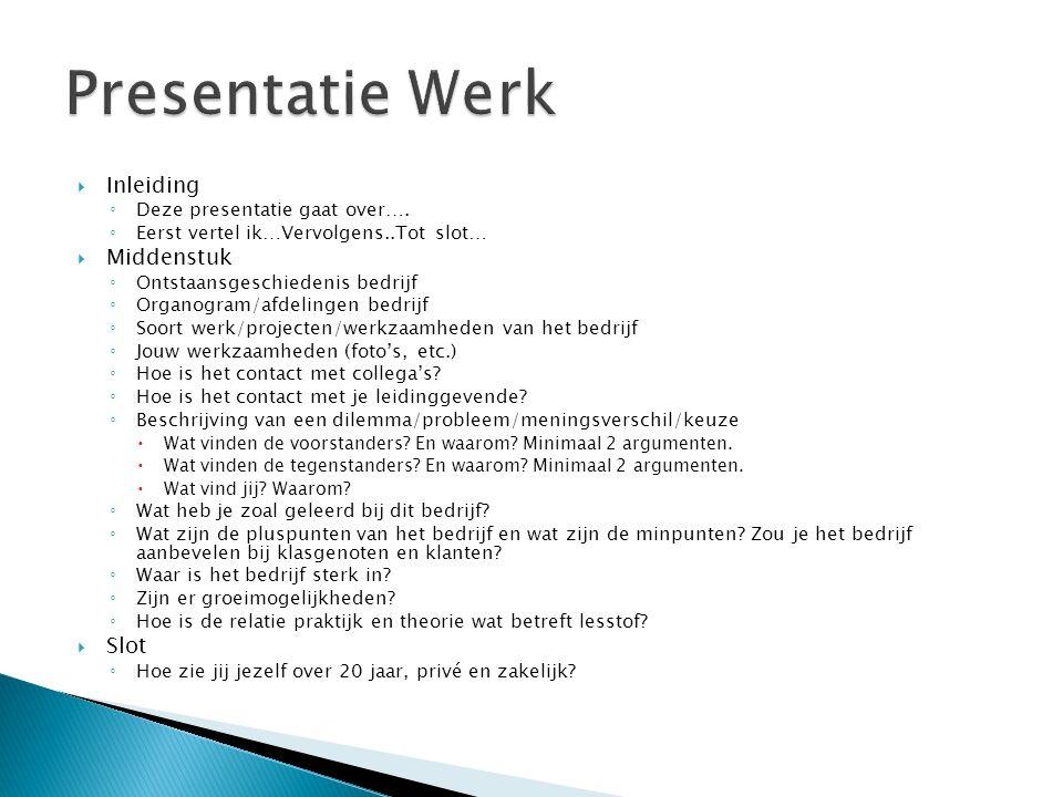  Inleiding ◦ Deze presentatie gaat over….