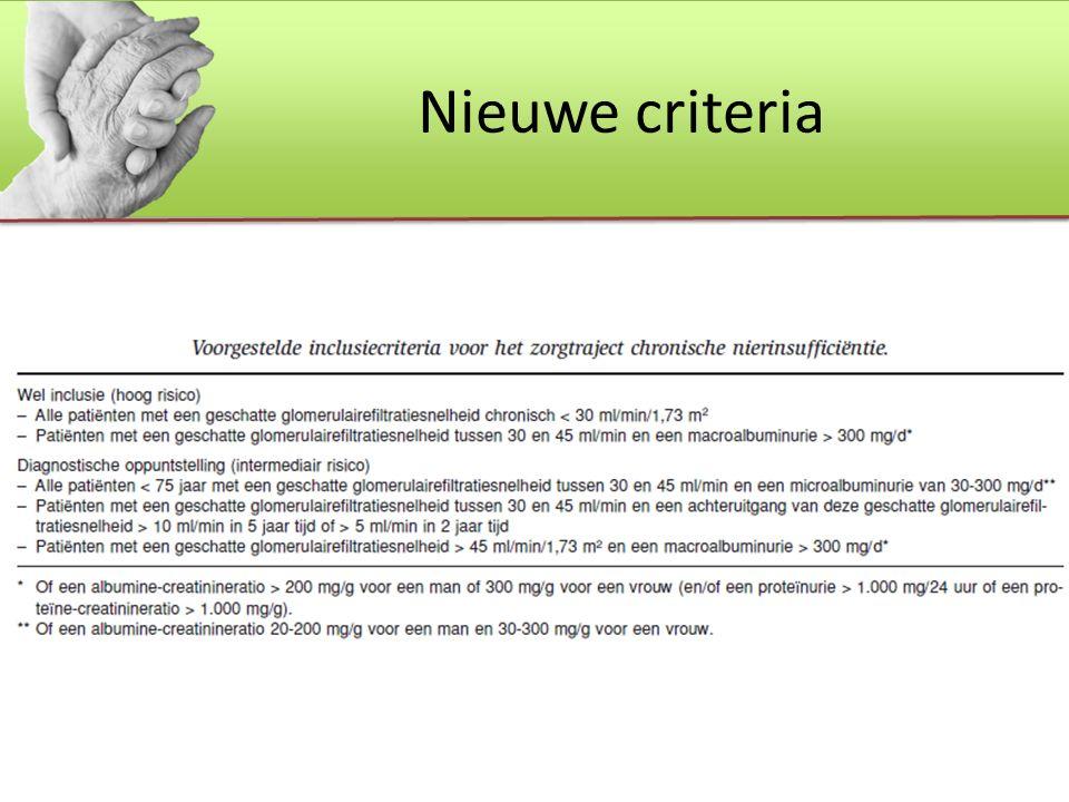 Nieuwe criteria