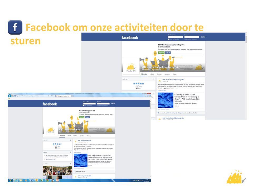 Facebook om onze activiteiten door te sturen Cliquez pour ajouter du texte