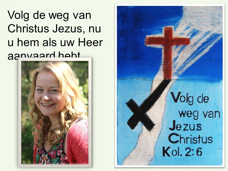 Volg de weg van Christus Jezus, nu u hem als uw Heer aanvaard hebt.
